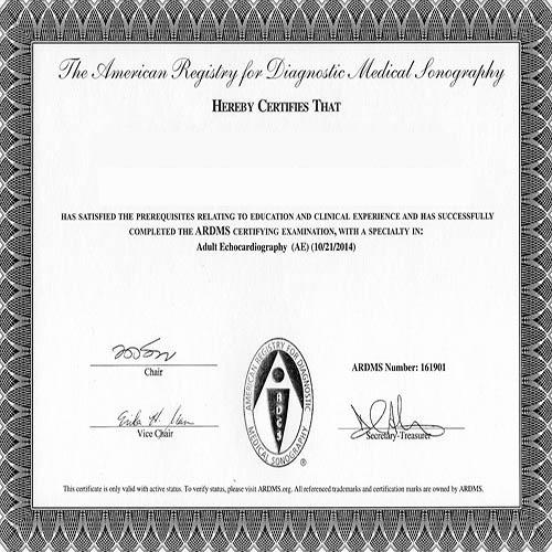 ARDMS Ultrasound Certification: